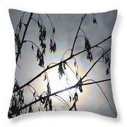 Moon Silhouette Throw Pillow