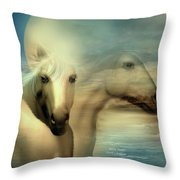 Moon Sisters Throw Pillow