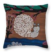 Moon Snail Bella Coola Throw Pillow