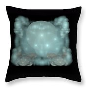 Moon Stars And Clouds Throw Pillow