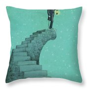 Moon Steps Throw Pillow by Eric Fan