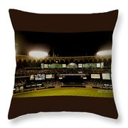 Moon In The Arches Edited 2 Throw Pillow