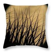 Moon Through The Palms Throw Pillow