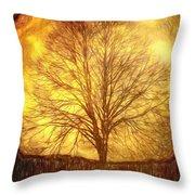 Moon Tree Throw Pillow