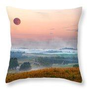 Moon Valley Morning Throw Pillow