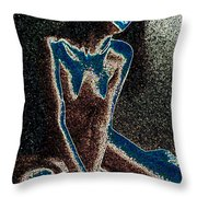 Moonblind Muse Throw Pillow