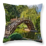 Moonbridge - The Beautifully Renovated Japanese Gardens At The Huntington Library. Throw Pillow