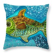 Moonfish Throw Pillow by Sergey Khreschatov
