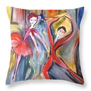 Moonlight By The Fountain  Throw Pillow
