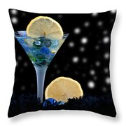 Creative - Moonlight Dark Star Cocktail Lemon Flavoured 1 Throw Pillow