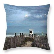 Moonlight Drama On The Beach Throw Pillow