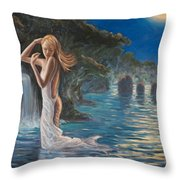 Transformed By The Moonlight Throw Pillow