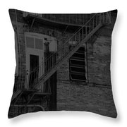 Moonlight Fire Escape Usa Near Infrared Throw Pillow