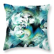 Moonlight Fish Throw Pillow