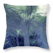 Moonlight Forest Throw Pillow