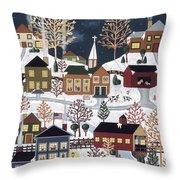 Moonlight In Vermont Throw Pillow