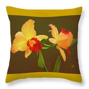 Moonlight Lady Orchid Throw Pillow