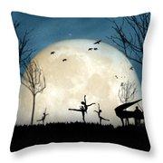 Moonlight Melody..new Throw Pillow