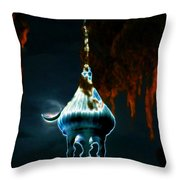 Moonlight Minaret Throw Pillow