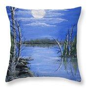 Moonlight Mist Throw Pillow