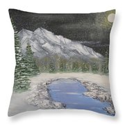 Moonlight Mountain Throw Pillow