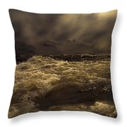 Moonlight On The Water Throw Pillow