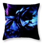 Moonlight Rose Throw Pillow