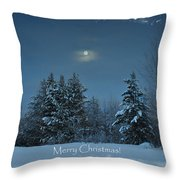 Moonlight Snow Throw Pillow