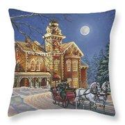 Moonlight Travelers Throw Pillow by Richard De Wolfe