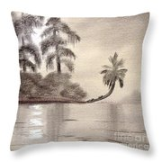 Moonlight Wakulla Springs Throw Pillow