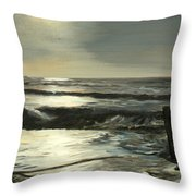 Moonlit Atlantic Throw Pillow
