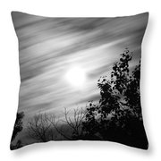 Moonlit Clouds Throw Pillow