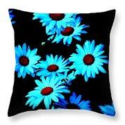 Moonlit Daisies Throw Pillow