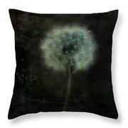 Moonlit Dandelion Throw Pillow