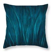 Moonlit Grass Throw Pillow