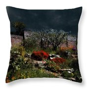 Moonlit Hillside In Africa Throw Pillow