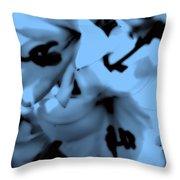 Moonlit Lilies Throw Pillow