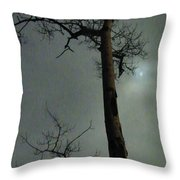 Moonlit Marks On A Ground Glass Canvas  Throw Pillow