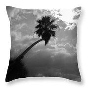 Moonlit Palm Throw Pillow