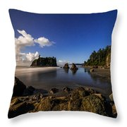Moonlit Ruby Throw Pillow