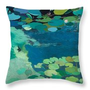 Moonlit Shadows Throw Pillow