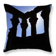 Moonlit Temple On The River Nile Throw Pillow by Brenda Kean