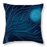 Moonlit Tree Throw Pillow