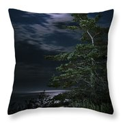 Moonlit Treescape Throw Pillow