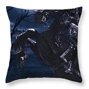 Moonlit Warrior Throw Pillow