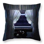Moonlit Window Throw Pillow