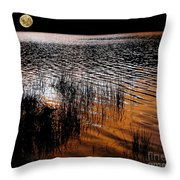 Moonrise After Sunset Throw Pillow by Kaye Menner
