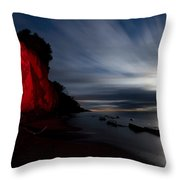Moonrise At Clearville Beach Throw Pillow