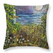 Moonrise At Sunset Throw Pillow