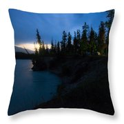 Moonrise At Wabasso Campground Throw Pillow